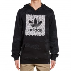 Adidas Word Camo Blackbird Pull Over Hoodie - Black/Carbon/White