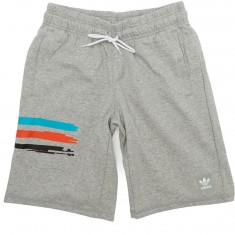 Adidas Climalite Shorts - Grey Heather/Energy Blue/Energy Red