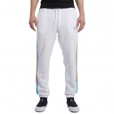 Adidas Blackbird Sweatpant - White/Energy Blue/Energy Red