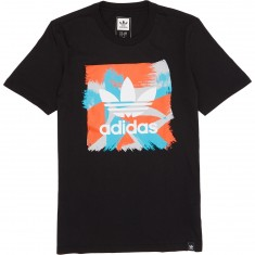 Adidas Courtside Blackbird Logo T-Shirt - Black/White/Energy Red
