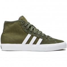 'Adidas Matchcourt High RX Shoes - Olive Cargo/White/Base Green' from the web at 'https://cdn.ccs.com/media/catalog/product/cache/4/small_image/235x/9df78eab33525d08d6e5fb8d27136e95/1/9/190309568636-1.1508941729.jpg'