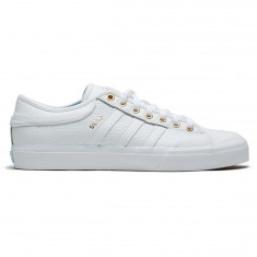 Adidas Matchcourt X Silvas Shoes - White/Gold Metallic/Icey Blue