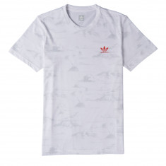 Adidas CMA Haven T-Shirt - White/Grey/Trace Scarlet