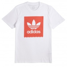 Adidas Solid Blackbird T-Shirt - White/Trace Scarlet