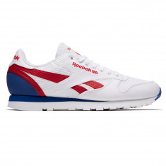 Reebok Classic Leather MVS Shoes - White/Excellent Red/Team Dark Royal