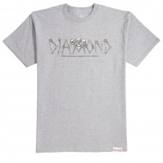 9059f3a34 Diamond Supply Co. Secrets Die T-Shirt - Heather Grey