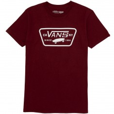 Vans Full Patch T-Shirt - Burgundy/White