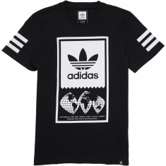 Adidas Global Lockup T-Shirt - Black/White