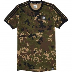 Adidas Striped Camo T-Shirt - Camo Print/Black