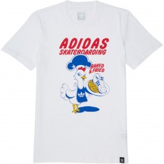 Adidas Baked And Fried T-Shirt - White/Blue/Bold Gold/Bold Red