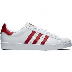 Adidas Superstar Vulc Adv Shoes - White/Scarlet/Gold Metallic