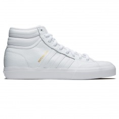 Adidas Matchcourt High RX2 Shoes - White/White/Gold Metallic