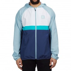Adidas Blackbird Packable Wind Jacket - Ash Grey /Shock Green