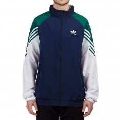 Adidas Lightweight Full Zip Tracktop Jacket - Night Indigo/Collegiate Green/White