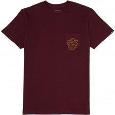 Vans Thunderbird Pocket T-Shirt - Burgundy