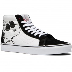 Vans X Peanuts Sk8 Hi Reissue Shoes - Joe Cool/Black
