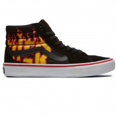 Vans X Thrasher Sk8 Hi Pro Shoes - Thrasher Black