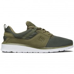 DC Heathrow Shoes - Olive Night/White