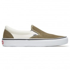 Vans Slip On Pro Shoes - Dusky Green/Marshmallow