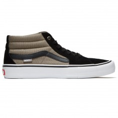 Vans Sk8-Mid Pro Shoes - Black/Fallen Rock