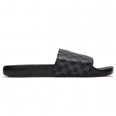 Vans Slide-On Shoes - Black/Asphalt Checkerboard
