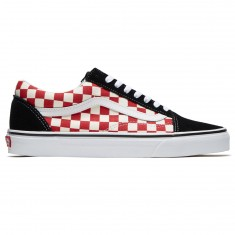 Vans Old Skool Shoes - Black/Red Checkerboard