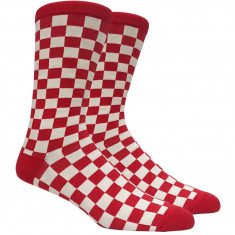 Vans Checkerboard Crew II Socks - Red/White Check