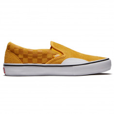 Vans Slip-On Pro Shoes - Hairy Suede Banana