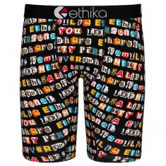 Ethika Ransom Note Boxer Brief - Assorted