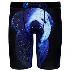 Ethika Bulldoggin Ya Boxer Brief - Black/Blue