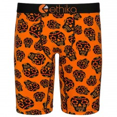 Ethika La Calavera Boxer Brief - Orange