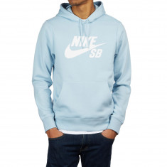 12313c606c69 Nike SB Icon Hoodie - Light Armory Blue White