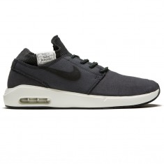 finest selection 35671 67b4c Nike SB Air Max Janoski 2 Premium Shoes - Anthracite Black White