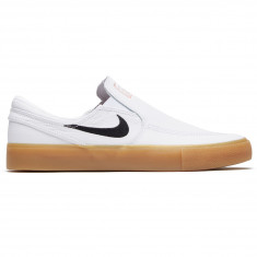 4663dcbcf0812 Nike SB Orange Label Zoom Janoski Slip RM Shoes - White Black White