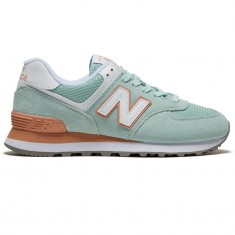 newest 40f5d 58a6f New Balance Womens 574 Essentials Shoes - White Agave/Faded Copper