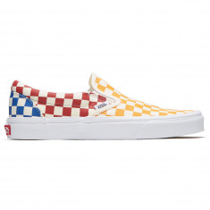 Vans Classic Slip-On Shoes - Checkerboard Multi True White 7cf7083da
