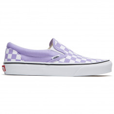 c5fc281871 Vans Classic Slip-On Shoes - Checkerboard Violet Tulip True White