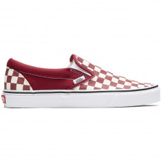 c772ff07d1d3 Vans Classic Slip-On Shoes - Checkerboard Rumba Red True White