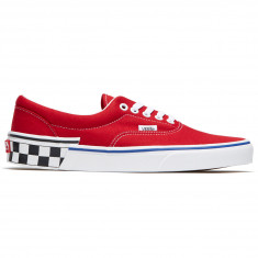 80e929cceb0a9c Vans Era Shoes - Checkerboard Block Tango Red