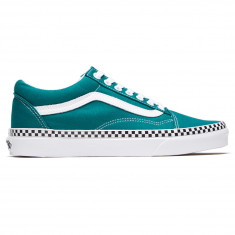 2a3c1ecceca Vans Unisex Old Skool Shoes - Check Foxing Quetzal Green True White