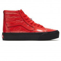 49a1a8fe4b Vans x David Bowie Sk8-Hi Platform 2.0 Shoes - Ziggy Stardust Red