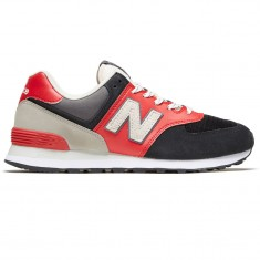 half off 5f7c1 35765 New Balance 574 Shoes - Black/Red