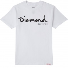 Diamond Supply Co. OG Script T-Shirt - White/Black