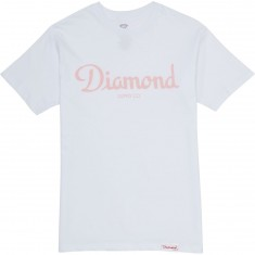 Diamond Supply Co. Champagne Sign T-Shirt - White