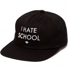 Diamond Supply Co. I Hate School Unstructured Snapback Hat - Black