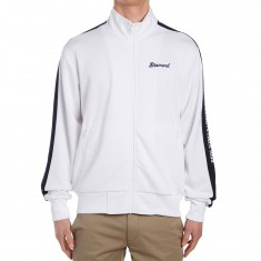 Diamond Supply Co. Stadium Full Zip Warm Up Jacket - White