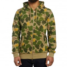 Diamond Supply Co. Pacific Tour Zip Up Hoodie - Olive Camo