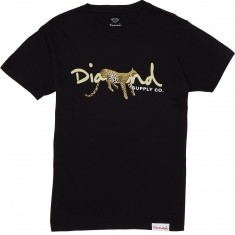 Diamond Supply Co. Leopard OG Script T-Shirt - Black