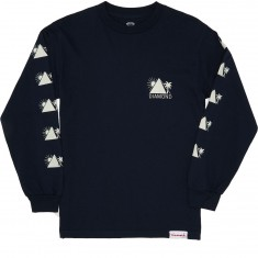Diamond Supply Co. Oases Long Sleeve T-Shirt - Navy