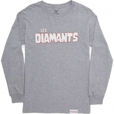 Diamond Supply Co. Les Diamants Long Sleeve T-Shirt - Heather Grey